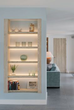 best Ideas for wall partition design floors Living Room Partition Design, Living Room Divider, Room Partition Designs, Living Room Shelves, Home Living Room, Living Room Designs, Living Room Decor, Partition Ideas, Home Interior Design