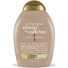 OGX Anti-Hair Fallout Niacin3 & Caffeine Shampoo - Tired of unclogging your drain after every shower? Now you can eliminate excessive hair shedding from your routine with this scalp-detoxifying conditioner.
