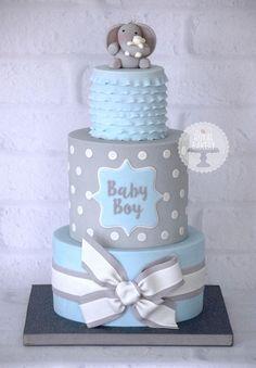Baby Shower Cake Boy www.- Baby Shower Cake Boy www. Elephant Baby Shower Cake, Elephant Cakes, Grey Baby Shower, Baby Shower Cakes For Boys, Baby Boy Cakes, Boy Baby Shower Themes, Elephant Theme, Babyshower Cake Boy, Themes For Baby Showers