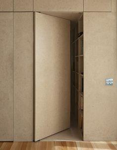 Afbeeldingsresultaat voor onzichtbare kastdeur in kastenwand