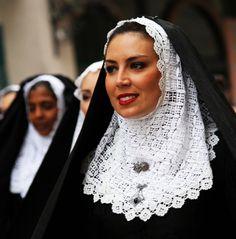 Volti di Sardegna - Costume sardo tempiese #TuscanyAgriturismoGiratola
