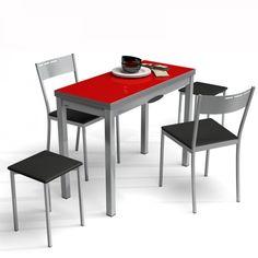 Table de cuisine extensible en verre – table petit espace - Delibro
