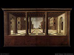 martini francesco di giorgio   Vista architettonica Martini, Painting, Art, Painting Art, Paintings, Painted Canvas, Martinis