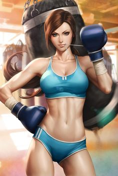 Beautiful Boxer by Artgerm.deviantart.com on @deviantART