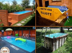 Would you own one if this container pools? Comment below! Like -> Different Solutions for more!