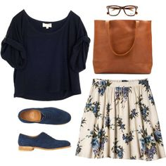 A fashion look from July 2015 featuring Elizabeth and James t-shirts, Xhilaration skirts and Toast oxfords. Browse and shop related looks. #oxfordoutfit