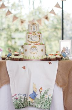 Adorable Peter Rabbit First Birthday Garden Party