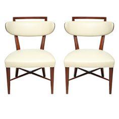 A Fine Pair of Italian Modern Klismos Chairs, 1950s