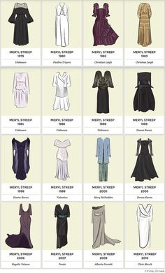 Meryl Streep oscar dresses IIHIH