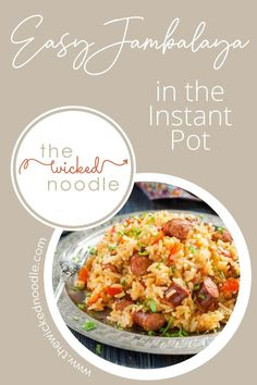 This easy Instant Pot Jambalaya recipe has both chicken and sausage and it's so flavorful! Use your favorite Cajun seasoning (such as Zatarains) and give this one a try. It's hearty, delicious, and the leftovers reheat nicely, too! #instantpotjambalaya #instantpotmeals #thewickednoodle #cajunfood Easy Delicious Recipes, Healthy Chicken Recipes, Healthy Dinner Recipes, Jambalaya Recipe Instant Pot, Spicy Dishes, Veggie Side Dishes, Cajun Seasoning, Cajun Recipes, Chicken Sausage