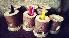 Wooden pen/pencil holder EYFS