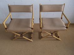 Vintage Hollywood Regency Campaign Director Chairs by MarkDavid (to be recovered)