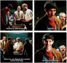 merlin xD. I love Merlin's face in the last picture xD