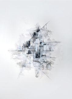 mixed media abstract plan