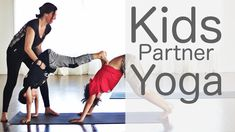 3 Minute Kids Partner Yoga With Fightmaster Yoga Yoga Poses For Sciatica, Yoga Poses For Two, Partner Yoga Poses, Kids Yoga Poses, Easy Yoga Poses, Yoga Poses For Beginners, Yoga For Kids, Yoga Podcast, Family Yoga