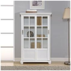 Altra Arron Lane Soft Grey Bookcase with Sliding Glass Doors | Overstock.com Shopping - The Best Deals on Office Storage & Organization