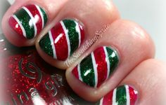 christmas nail designs for short nails