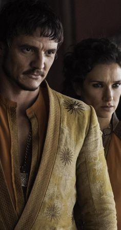 The Red Viper, Oberyn Martell (Pedro Pascal) and Ellaria Sand (Indira Varma), Game of Thrones, Season 4.