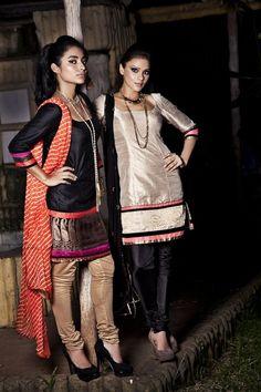Black, orange, and gold punjabi suits. Indian Suits, Indian Attire, Punjabi Suits, Indian Look, Indian Ethnic Wear, Indian Style, Ethnic Fashion, Asian Fashion, India Fashion
