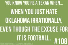 TEXAS LOVE~ Ha ha!  This doesn't quite apply to me or my husband...but it is ONE of the reasons!