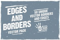 Edges and Borders - Vector Pack by Downloads for Designers on @creativemarket