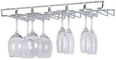 NEW Wine Glass Holder Large Chrome Under Cabinet Stemware  Rack Hanging Kitchen