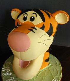 Sculpted Tigger Cake by Amanda Oakleaf Cakes, via Flickr