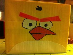 """Yellow Angry Bird Wrapping ALL of Julians Gifts in """"Angry Bird"""" wrap this year..."""