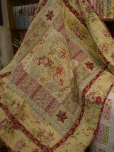 Spring Floral Vintage Style Quilt Pdf Pattern Pdf