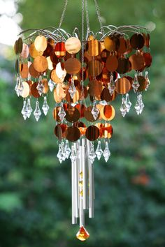 Shimmer Chandelier Wind Chime - Bronze only $32.99 at Garden Fun - Collector Items