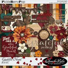 Grateful Heart digital scrapbooking kit by Jennifer Labre Designs