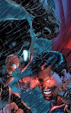 Justice League of America Batman VS Superman Variant Cover by Jim Lee Batman Poster, Batman Art, Batman Vs Superman Comic, Superman Artwork, Spiderman, Arte Dc Comics, Comic Art, Univers Dc, Dc Comics Characters