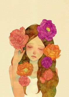 꽃이 되고 싶었어seed210*297 watercolor on paper