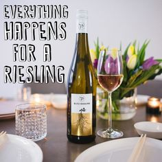 Riesling <3 Wine, Drinks, Bottle, Food, Drinking, Beverages, Flask, Essen, Drink