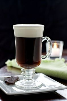 Irish Coffee was originally created by an Irish chef/barman as a warm and welcoming drink for the first American tourists who arrived in Ireland via transatlantic passenger airplanes.