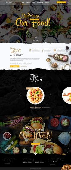 Beautiful website design for a restaurant or shop!