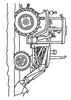 Farm vehicles coloring page Tractor plowing a field bible