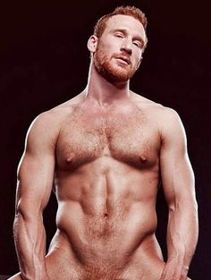Mature nude males with red hair
