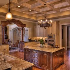 Love the ceiling and the cabinetry
