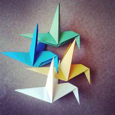 Beija-flor #origami #beijaflor #colibri
