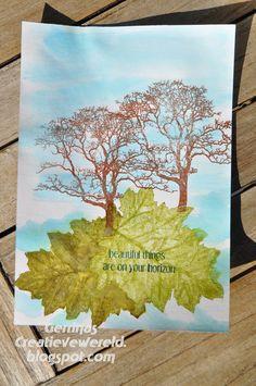 Gerrina's Creatieve Wereld: Bomen en bladeren / Trees and leaves
