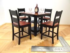 Miniature Pub Table and Chairs Set. $125.00, via Etsy.