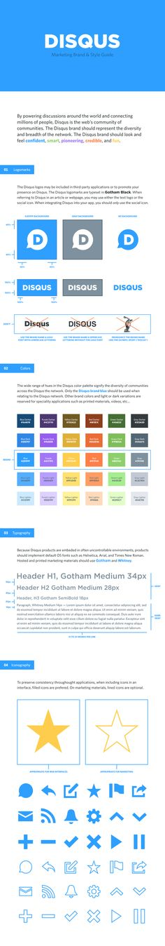 Disqus Brand & Style Guide on Behance
