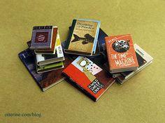Handmade books in miniature