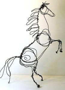 Simple Wire Sculptures Of Animals