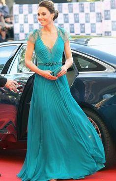 Catherine, Duchess of Cambridge. London Olympic gala.