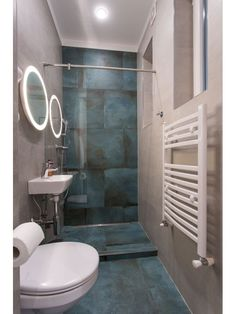 Downstairs Cloakroom, Downstairs Toilet, Basement Bathroom, Bohemian Bathroom, Bathroom Inspo, Bathroom Inspiration, Mint Bathroom, Bathroom Tub Shower, Basement Remodeling