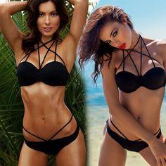 $9.30 (Buy here: https://alitems.com/g/1e8d114494ebda23ff8b16525dc3e8/?i=5&ulp=https%3A%2F%2Fwww.aliexpress.com%2Fitem%2FStylish-Women-Black-Swimsuit-Cross-Over-Spaghetti-Strap-String-Bikini-Sets-Sexy-Lady-Beachwear-Holiday-Swimwear%2F32787992099.html ) Stylish Women Black Swimsuit Cross Over Spaghetti Strap String Bikini Sets Sexy Lady Beachwear Holiday Swimwear Maillot De Bain  for just $9.30