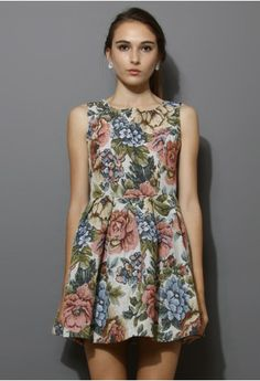 Pink Blooming Floral Embroidery Dress