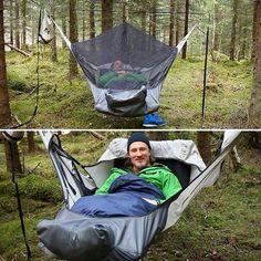 Sleeping bag hammock....shut up and take my money now.
